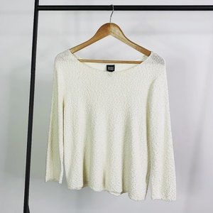 Eileen Fisher Ivory Pebble Knit Top